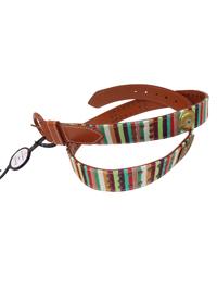 Accessorize MULTI Studded Stripe Belt - Size Medium to Large