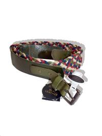 M0NS00N Accessorize KHAKI Multi Weave Belt - Size Medium to Large