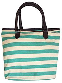 TURQUOISE Striped Shopper Bag