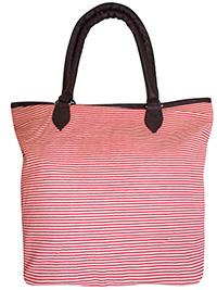 RED Fine Striped Shopper Bag