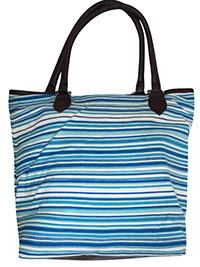 BLUE Multi Striped Shopper Bag