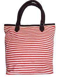 PINK Striped Shopper Bag