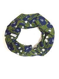 SEAS4LT GREEN Green Brushed Poppies Multi Functional Handy Head band