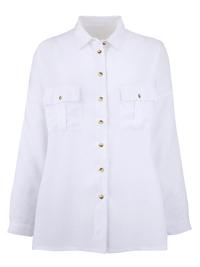 LabelBe WHITE Oversized Boyfriend Shirt - Plus Size 18 to 32