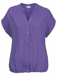 Boysens PURPLE Short Sleeve Blouson Hem Top - Size 6/8 to 26/28 (EU 32/34 to 52/54)