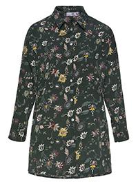 AJC GREEN Floral Print 3/4 Sleeve Shirt - Plus Size 12 to 20 (EU 38 to 46)