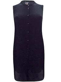 Sara Lindholm BLACK Sleeveless Tunic Shirt - Plus Size 16 to 30 (EU 42 to 56)