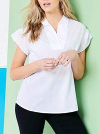 Anthology WHITE Ruffle Sleeve Oversized Blouse - Plus Size 20