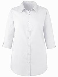 Anthology WHITE Linen Blend Blouse - Plus Size 18 to 32
