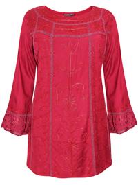 eaonplus BURGUNDY Egyptian Renaissance Gothic Tunic - Plus Size 18 to 32