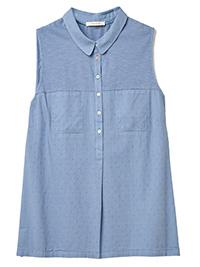 WH1TE STUFF LIGHT-BLUE Sugar Spoon Jersey Shirt - Size 6 to 22