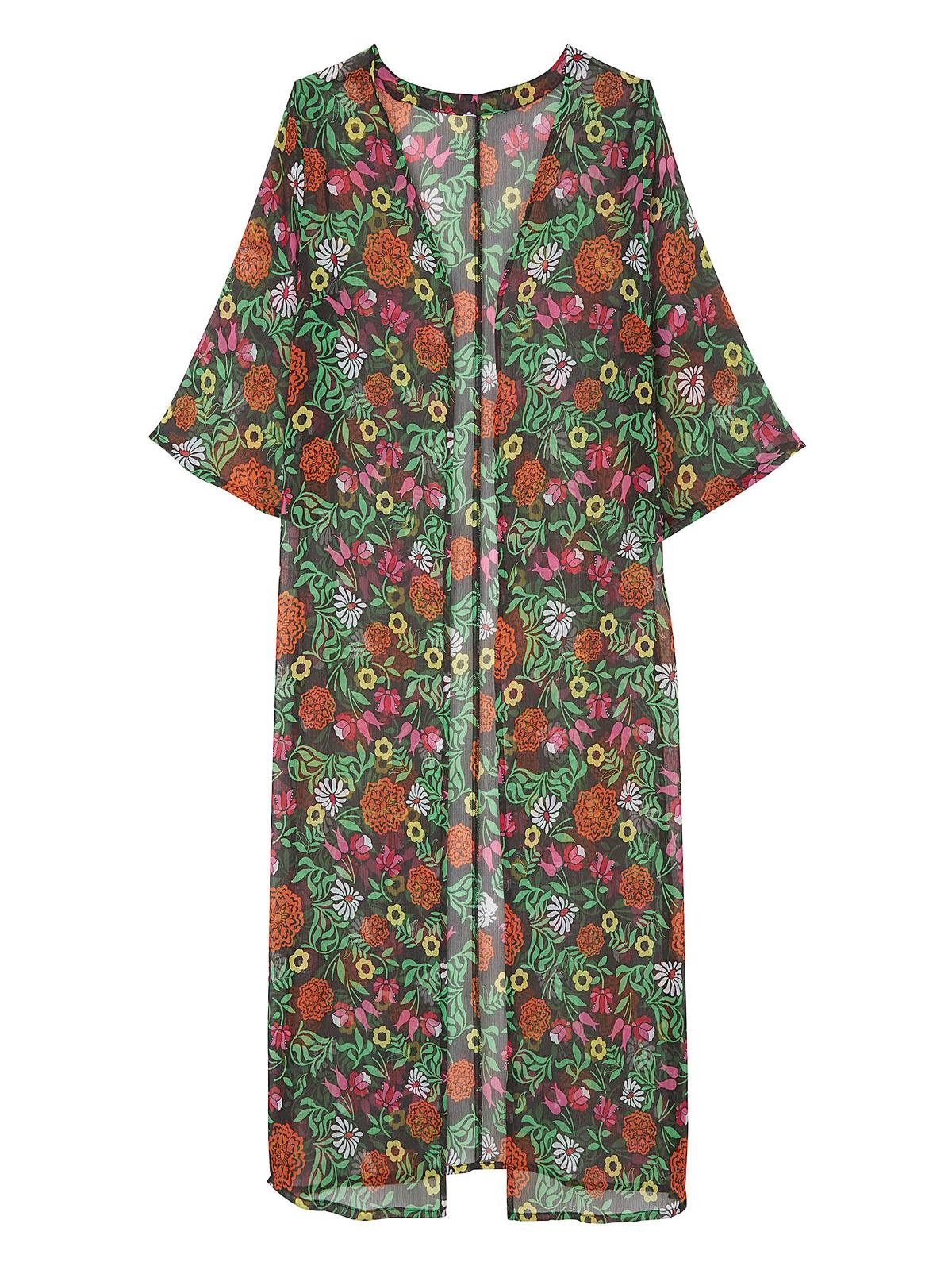 5aabd21cbc Label Be - - LabelBe MULTI Floral Printed Longline Kimono - Plus ...