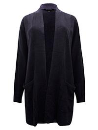 Belle Curve BLACK Super Soft Open Front Twin Pocket Cardigan - Plus Size 16 to 26