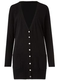 Capsule BLACK Boyfriend Fit Cardigan - Plus Size 12/14 to 20/22
