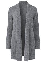 Julipa GREY Longline Boucle Cardigan - Size 8/10 to 28/30
