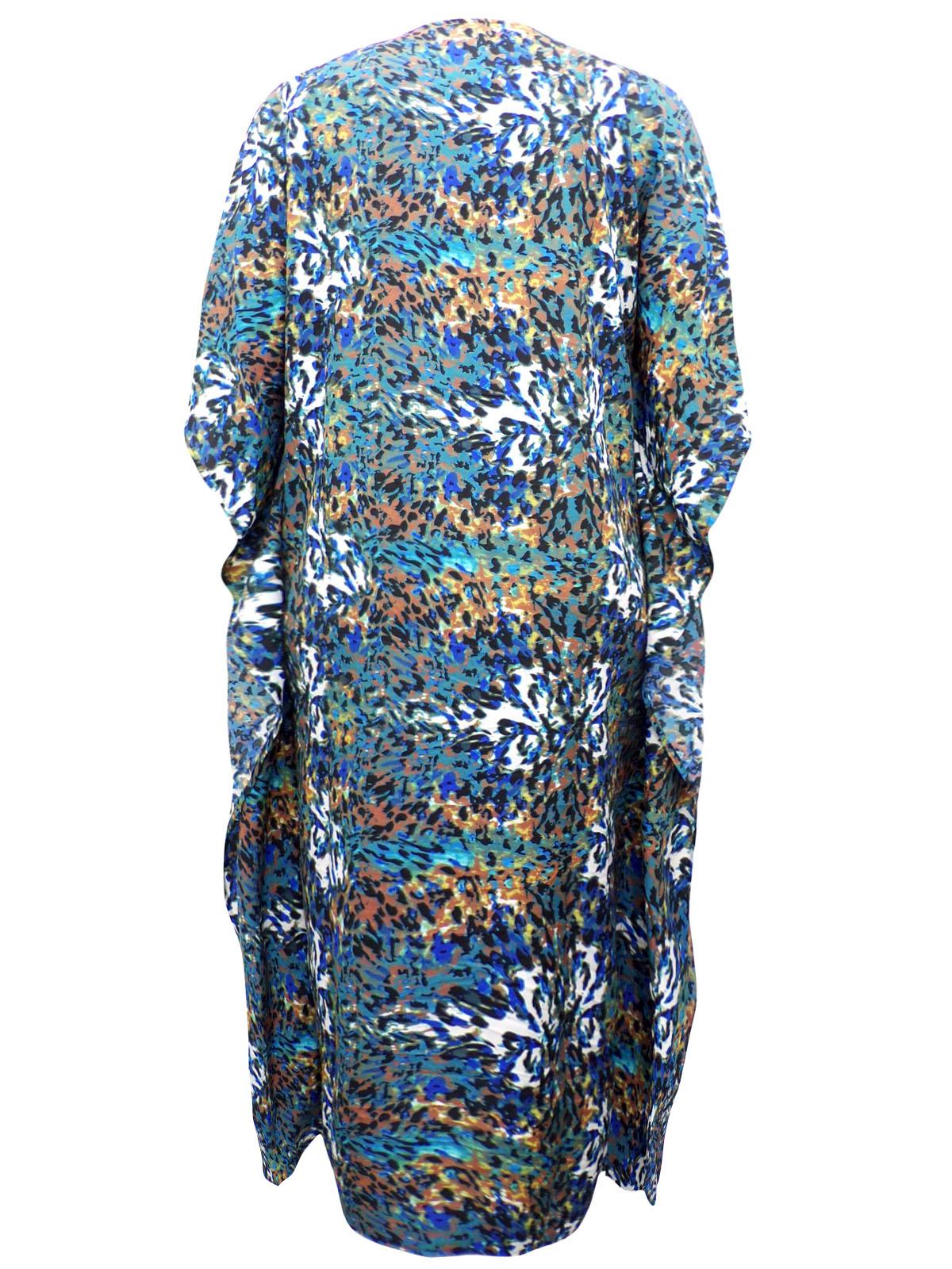 eaonplus COLOURED So So Soft Animal Print Kaftan Dress  PLUS SIZE 14 to 34