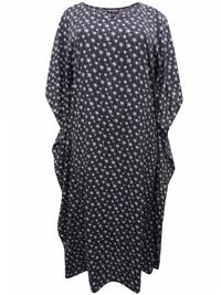 eaonplus Dandelion Print So Soft Kaftan Dress - Plus Size 14 to 34
