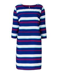LabelBe BLUE Stripe Print Tunic Dress - Size 10 to 32