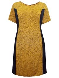 Plus Size YELLOW-MARL Jersey Side Panel Dress - Size 16 to 30/32