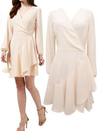 M1ss S3lfridge BLUSH Cross-over Chiffon Layer Dress - Size 8 to 16