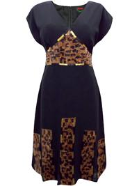 BLACK Sequin Embellished Cap Sleeve Dress - Size 8 to 24