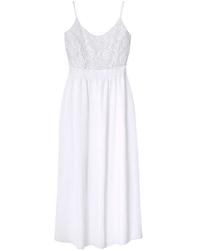 LabelBe WHITE Shirred Back Maxi Dress - Plus Size 16 to 28