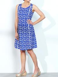 LabelBe BLUE Ladder Seam Printed Shift Dress - Plus Size 18 to 32