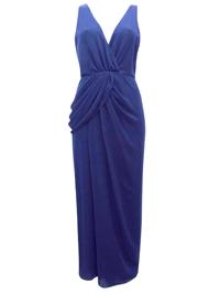 VLabel NAVY Windsor Drape Front Maxi Dress - Size 4 to 14
