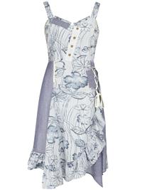 Joe Browns BLUE Printed Santorini Dress - Plus Size 12 to 32