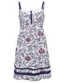 Joe Browns WHITE Printed Santorini Dress - Plus Size 20 to 32