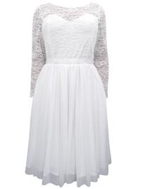 Scarlett & Jo IVORY Floral Lace Fit & Flare Wedding Dress - Plus Size 12 to 32