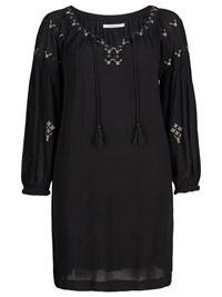 JOELLE BLACK Embroidered Wildflower BoHo Dress - Size 8/10 to 24/26 (EU 34/36 to 50/52)