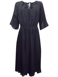 Havr3n BLACK Ladder Trim Boho Dress - Size 12 to 18