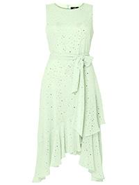 W4LLIS MINT Glitter Tiered Midi Dress - Size 10 to 20