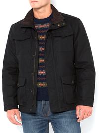 Mens Howick BLACK Funnel Neck Belted Bamford Jacket - Size Medium to XXLarge