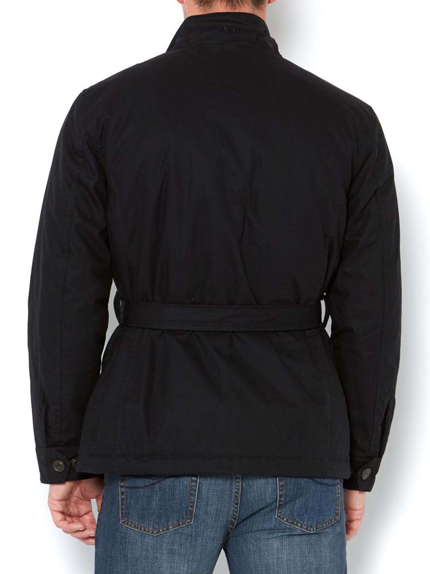 Funnel Neck Belted Bamford Jacket