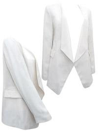 Phas3 3ight IVORY Alex Tuxedo Jacket - Size 8 to 18