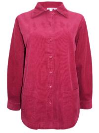 Blair PLUM JAM Soft Feel Cotton Corduroy Shirt Jacket - Size 8/10 to 24/26 (Small to 3X)