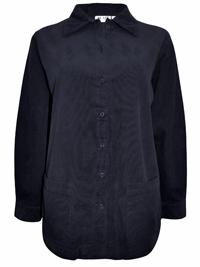 Blair BLACK Soft Feel Cotton Corduroy Shirt Jacket - Size 8/10 to 24/26 (Small to 3X)