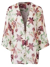 Capsule BLUSH Lily Printed Boxy Kimono - Plus Size 18 to 28