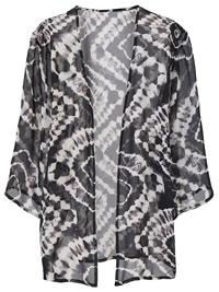 Capsule GREY Printed Boxy Kimono - Plus Size 12 to 32