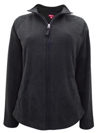 Merona BLACK Zip Through Fleece Jacket - Size 10 to 20 XSmall to XXLarge