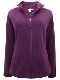 Merona PURPLE Zip Through Fleece Jacket - Size 10 to 20 XSmall to XXLarge