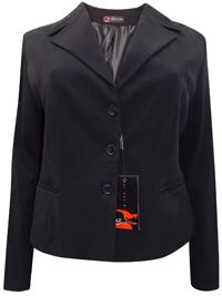 Sarah Chole BLACK Long Sleeve Blazer Jacket - Plus Size 22 (54)