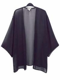 Anthology BLACK Boxy Chiffon Kimono - Plus Size 14 to 20