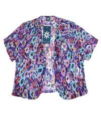 Amber PURPLE Floral Print Crinkle Bolero - Size 10 to 22