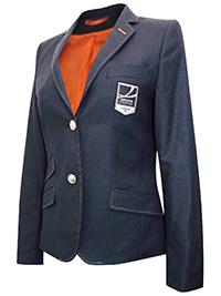 Tailor Women GREY Wool Blend Contrast Stitch Badge Blazer Jacket - Size 10 to 20 (EU 36 to 46)