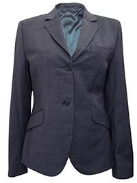 Turo Tailor CHARCOAL Kylie Wool Blend Single Breasted Blazer Jacket - Size 14 (EU 40)