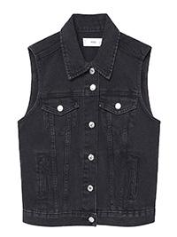 M4NGO ASH Pure Cotton Sleeveless Denim Gilet Jacket - Size 8 to 16 (XS to XL)
