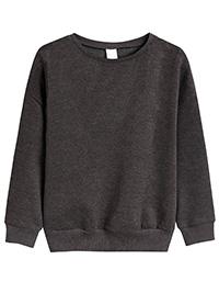 GREY Boys Cotton Rich Sweatshirt - Size 8yrs to 13yrs